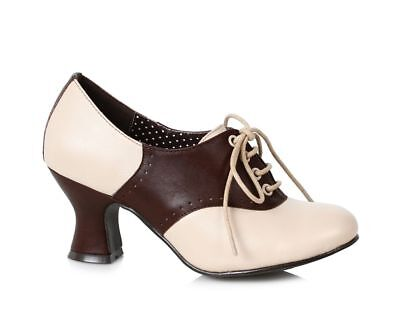 AU71.50 • Buy Brown Cream Saddle Shoes 40s 50s Pinup Girl USO Vintage Heels Womans 7 8 9 10 11