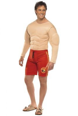 SALE Baywatch Life Guard - Funny Padded Muscle Chest Mens Fancy Dress Costume  • 25£