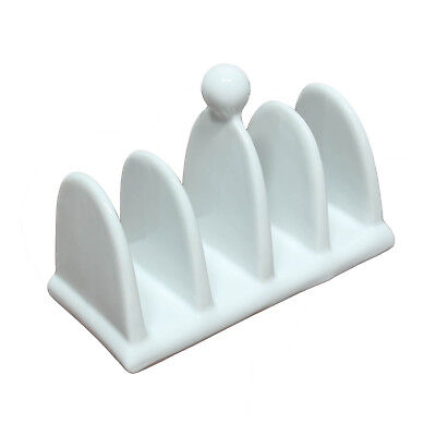 £7.95 • Buy Classic 4 Slice Fine Porcelain White Toast Bread Rack With Handle Vintage Style