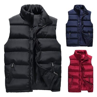 dcc63f212a9 Men s Winter Warm Down Quilted Vest Body Sleeveless Padded Jacket Coat  Outwear • 21.84