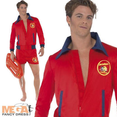 £34.99 • Buy Men's Baywatch Lifeguard Jacket & Shorts Fancy Dress Adult Costume TV Outfit New