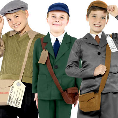 Wartime Boys Fancy Dress 40s 30s History Britain Book Day Kids Childs Costumes • 14.99£