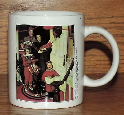 $ CDN6.23 • Buy Nm Norman Rockwell Mug 1951 Merry Christmas Grandma We Came In Our New Plymouth