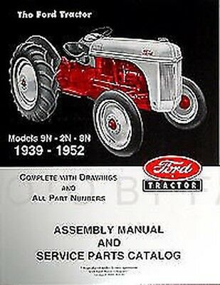 $ CDN54.70 • Buy Ford 2N 8N 9N Tractor Assembly Book And Parts Manual 1939-1952 Catalog