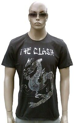 £38.04 • Buy AMPLIFIED Official THE CLASH Silver Foil Dragon Vintage Rock Star VIP T-Shirt L