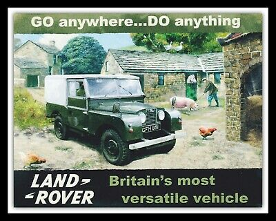 Land Rover Off Road Jeep Farm Farmer Garage Workshop Metal Plaque Tin Sign 296 • 6.99£