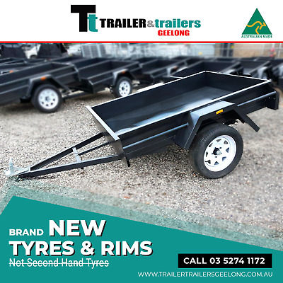 AU845 • Buy 6x4 BOX TRAILER LIGHT DUTY | 9  SIDES | SMOOTH FLOOR | FIXED FRONT | T&t GEELONG