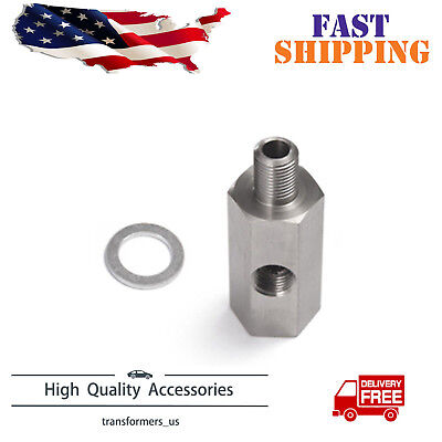 $8.99 • Buy Stainless 1/8'' NPT Oil Pressure Sensor Tee - NPT Adapter Turbo Supply Feed Line