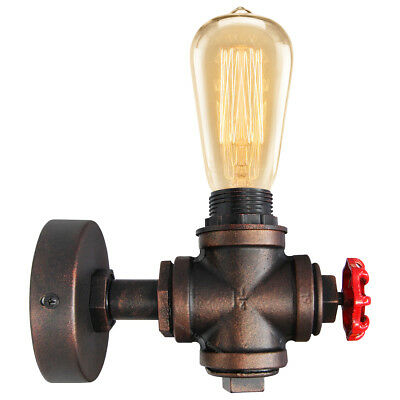 £14.99 • Buy Vintage Industrial Rustic Unique Style Wall Light Knob Waterpipe Wall Lamp M0071
