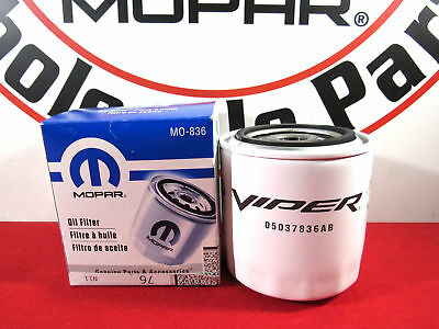 $21.50 • Buy DODGE VIPER 8.0L/8.3L RAM 8.3L V10 Performance Oil Filter NEW OEM MOPAR