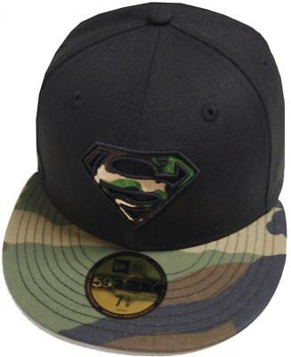 New Era Superman Camo Marvel Dc Cap 59Fifty Fitted Special Limited Edition • 46.37£