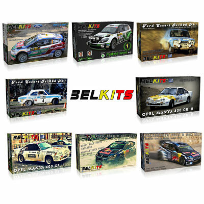 BELKITS 1:24 Rally WRC Car Model Kits With Photo Etched Parts - Choose • 39.90£