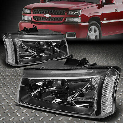 $64.99 • Buy For 03-06 Chevy Silverado Avalanche Black Housing Clear Corner Headlight Lamps