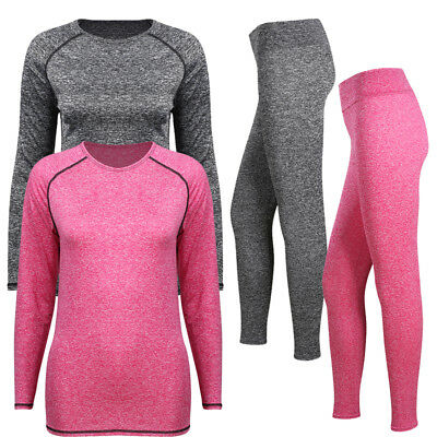 $9.89 • Buy Womens Winter Ultra-Soft Lined Base Layer Thermal Underwear Top & Bottom Set