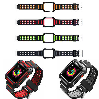 $ CDN10.73 • Buy Sport Straps Wristwatch Case Cover Bands For Apple Watch Iwatch Series 4 42/44mm