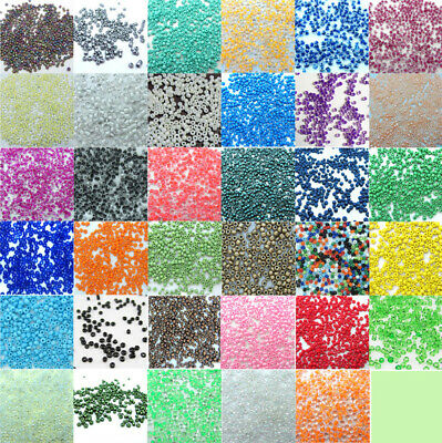 $ CDN0.99 • Buy 1000pcs Charm 2MM Round Czech Glass Seed Beads Lots DIY Jewelry Making