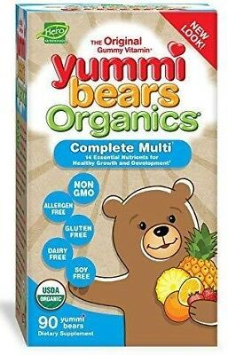 $69.99 • Buy Yummi Bears Organics Multi-Vitamin For Kids 90 Gummy Bears