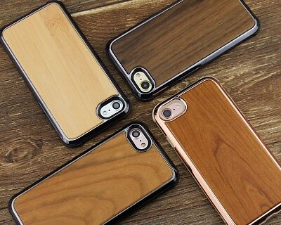 REAL WOOD Wooden IPhone X 7 7 PLUS 8 8 PLUS Shockproof Luxury Rugged Case • 7.99£