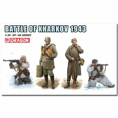 DRAGON 6782 Battle Of Kharkov 1943 Figures Model Kit 1:35 • 15.29£