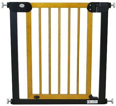 Pressure Fit Extendable Stair Baby Safety Gate Wood Metal AUTO-CLOSE STOP OPEN  • 29.95£