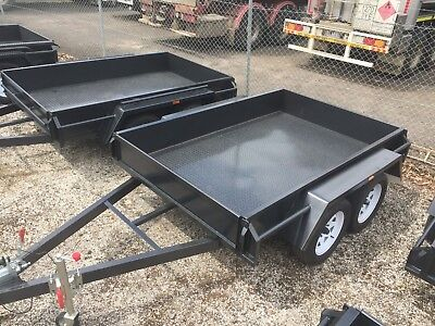 AU1650 • Buy 8x5 TANDEM BOX TRAILER | DROP FRONT AND REAR TAILGATES | 12  SIDES | T&t GEELONG