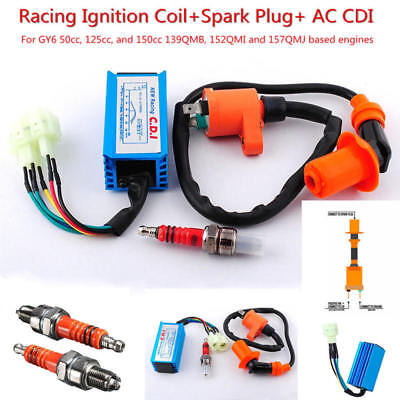 $12.49 • Buy Racing Performance CDI+ Ignition Coil + Spark Plug Fit Gy6 150cc 125cc 50cc