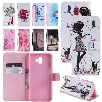 AU7.16 • Buy PU Leather Wallet Phone Case Cover Card Slot For Samsung Galaxy J4 J6 Plus Prime