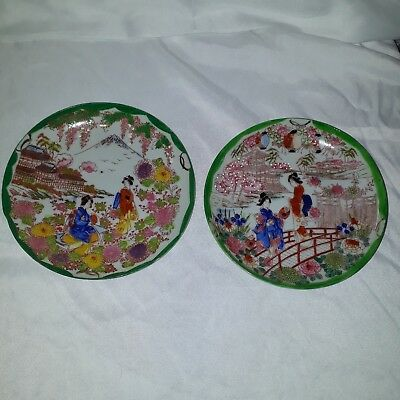 Set Of Two Small Colorful Asain Themed Small Plates • 3£