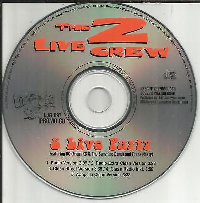 $ CDN33.51 • Buy 2 LIVE CREW W/ KC SUNSHINE BAND Party INSTRUMENTAL & ACAPELA & CLEAN PROMO CD