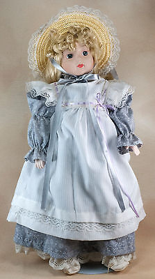 $ CDN11.47 • Buy Anco 15 Inch Porcelain Collector's Doll With Blond Hair Blue Eyes