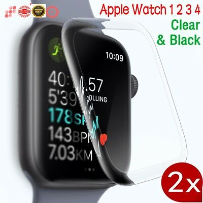 $ CDN5.27 • Buy 1/2X 3D Full Cover Screen Protector Cover For Apple Watch Series 4 3 2 1 IWatch