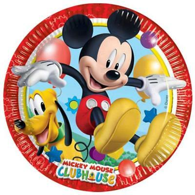 Disney Mickey Mouse Clubhouse Paper Plates 8pcs 23cm Kids Party Tableware • 2.30£