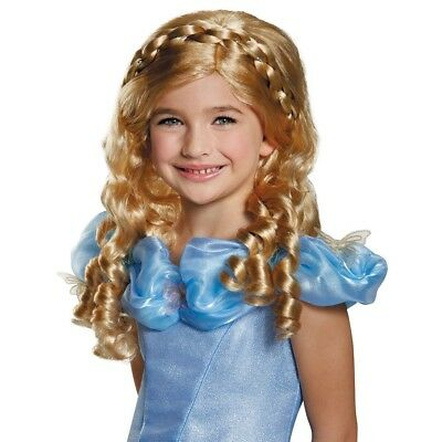 Girls Child Disney CINDERELLA Deluxe Licensed Wig • 23.97£