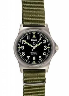 MWC G10 LM Stainless Steel Non Date Military Watch Olive Green Strap G10LM/OG/ND • 72.50£