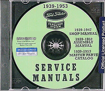 $ CDN59.90 • Buy 1939-1947 Ford 2N 9N Tractor CD With Shop Manual Parts Book And Assembly Manual