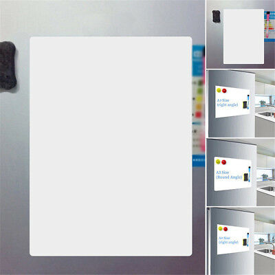 A5 Reminder Fridge Magnetic Whiteboard Family Message Board Office Memo Plain • 3.48£