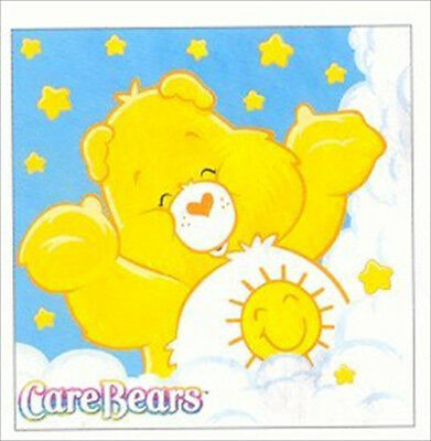 CARE BEARS Funshine SMALL NAPKINS (16) ~ Birthday Party Supplies Serviettes Blue • 5.92£