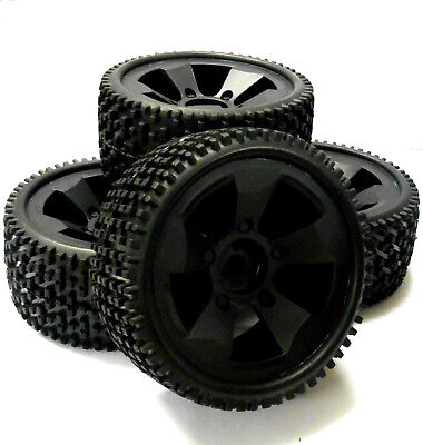 BS502-001 1/5 Scale Electric Monster Truck Wheels Off Road Tyres Tires 4 Black • 32.99£