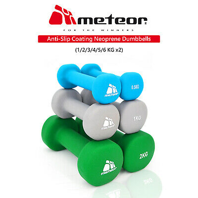 AU13 • Buy METEOR 0.5-6kg Anti-Slip Dumbbell Pair Cast Iron Weight Lifting Home Gym Fitness