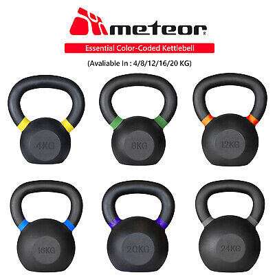 AU45.99 • Buy METEOR Cast Iron Kettlebell Powder Coating Cross Weight Lifting Dumbbell Gym