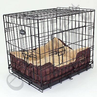 View Details  Dog Cage With Bed Training Metal Crate Puppy Pet Cat Carrier XS S M L XL XXL • 54.99£