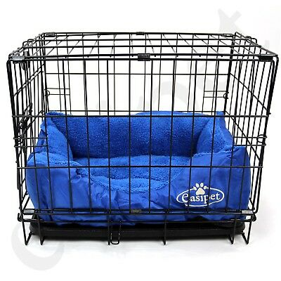 £29.99 • Buy  Dog Cage With Bed Training Metal Crate Puppy Pet Cat Carrier XS S M L XL XXL