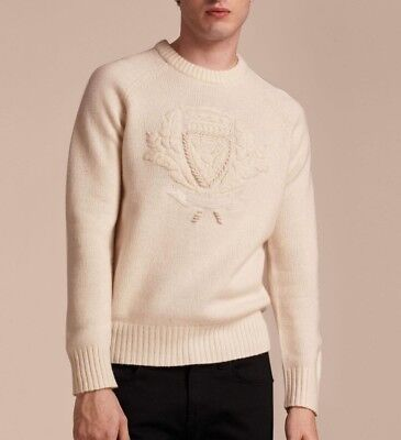 $247.50 • Buy Burberry Men's Natural White Bexhill Sweater $895 Size XL