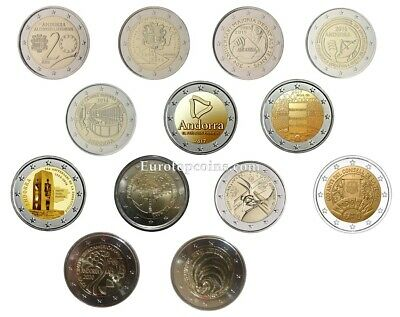 $ CDN553.51 • Buy #rm# All 2 Euro Commemorative Andorra 2014-2019 - 11 Coins