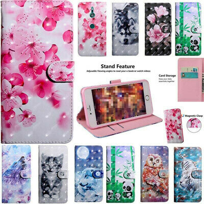 AU7.32 • Buy Magnetic Flip Leather Case Stand Cover For Sony Xperia 10 Plus XA1 XA2 Ultra
