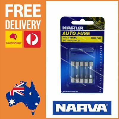 AU6.11 • Buy Narva 52310BL Glass Fuse 10 Amp 3AG 10A Glass Fuse Pack Of 5 - 52310BL