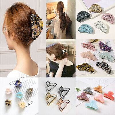 $1.86 • Buy Women Metal Simple Hair Claw Clips Hairband Barrette Crab Clamp Hair Accessories