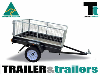 AU850 • Buy 6x4 CAGE TRAILER-2FT GALVANIZED- 600kg GVM-BARN DOORS-DROP TAILGATE|T&T GEELONG