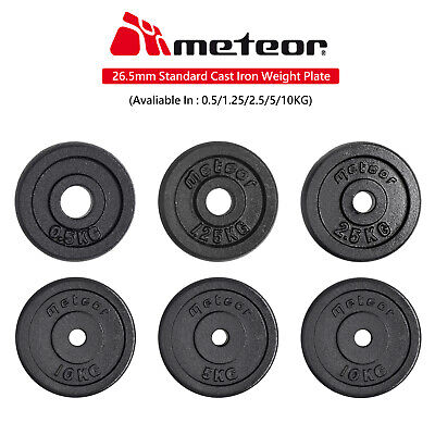 AU32.90 • Buy METEOR 0.5-10kg Standard Cast Iron Weight Plate Fitness Gear Dumbbell Barbell