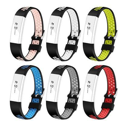 AU5.01 • Buy Silicone Wrist Band Watchband Bracelet Strap For Fitbit Alta HR Fitness Tracker